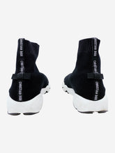 Load image into Gallery viewer, Black and white Fusion sock trainers - size EU 34