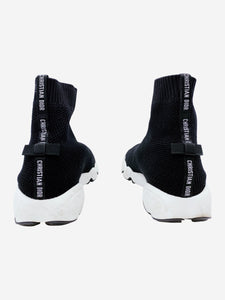 Black and white Fusion sock trainers - size EU 34