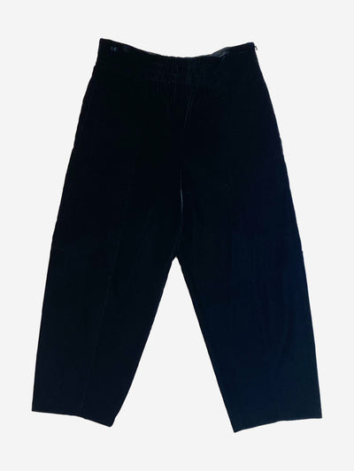 Black velvet trousers - size UK 12