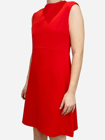 Red knee length shift dress - size S