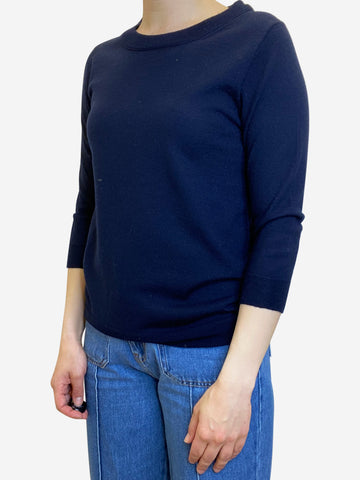 Navy crew neck sweater - size S