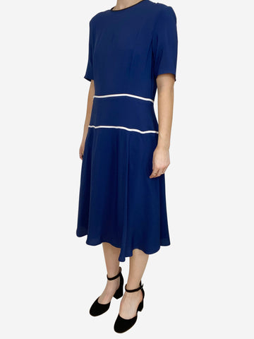 Blue and white midi dress - size IT 42
