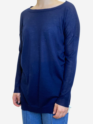 Dark navy round neck sweater - size S