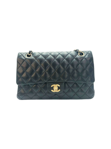 Chanel Black Medium Quilted Leather Double Flap With Gold Hardware Chanel - Timpanys
