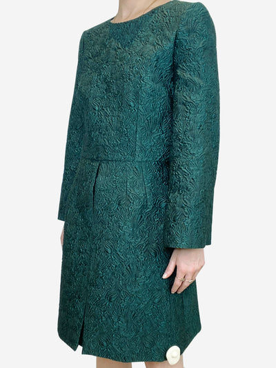 Dark green brocade dress - size IT 42