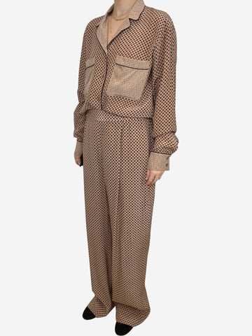 beige and burgundy Stella McCartney Sets, 12