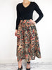 Ganni Gold Paisley Embroidered Skirt Size M RRP £220