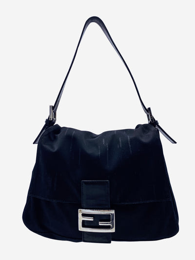 Zucchino black canvas shoulder bag