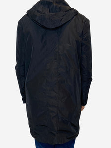 Lis Lareida Black lightweight hooded raincoat - size S