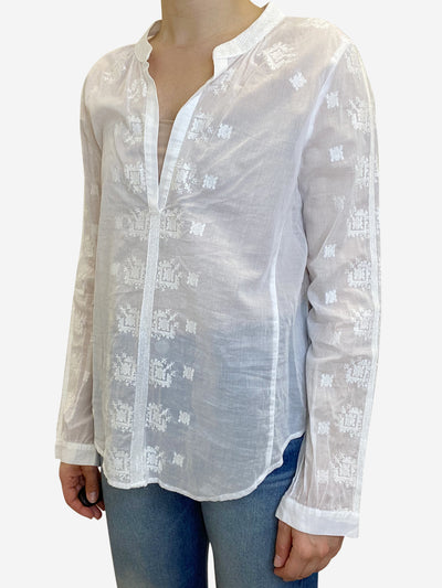 White embroidered blouse - size S