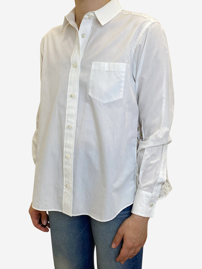 White shirt with lace panel back - size S