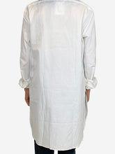 Load image into Gallery viewer, White PRL pocket logo tunic shirt- size UK 12