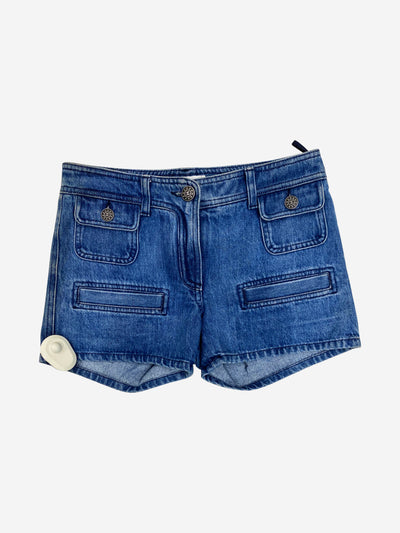 Denim mid rise shorts - size UK 6