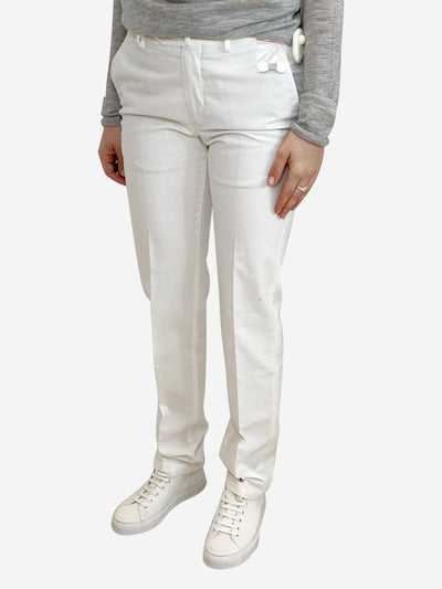 White light weight trousers - size IT 44