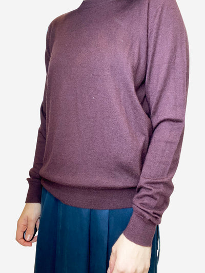 Burgundy cashmere sweater- size S