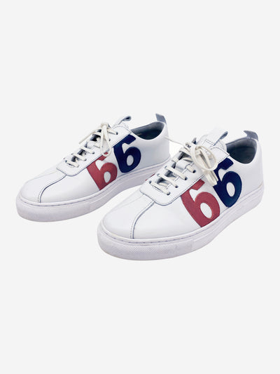 White leather trainers with '66' logo - size EU 36