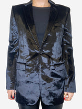 Load image into Gallery viewer, Black Velvet formal blazer - size S