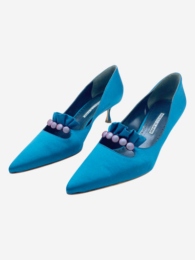 Teal pointed heels - size EU 41