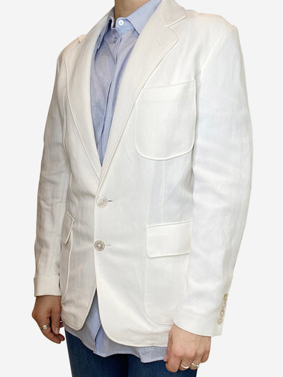 White linen blazer - size UK 10