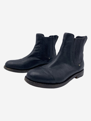 Black leather Chelsea boots - size EU 39.5