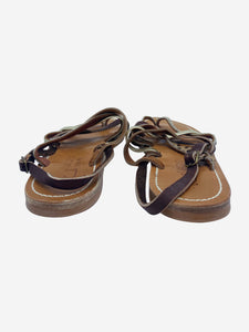 KJacques St Tropez Gold and Brown KJacques St Tropez Sandals, 7