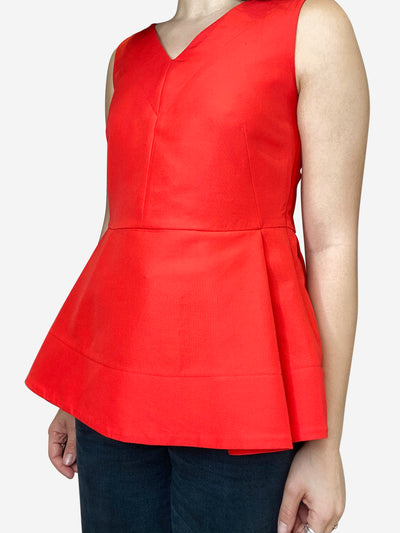 Orange fit and flare sleeveless top - size IT 40