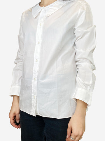White button down shirt with peter pan collar- size UK 12