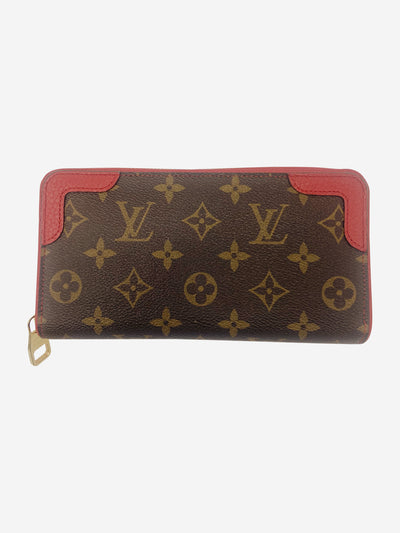 Zippy Retiro red & brown monogram canvas wallet