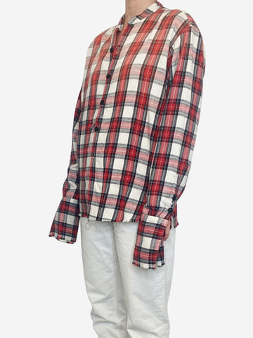 Red & Cream Greg Lauren Tops, 10