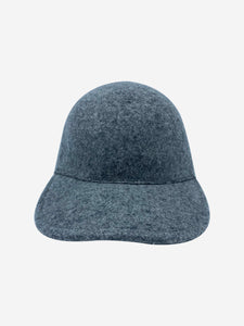 Stella McCartney Grey felt wool baseball cap
