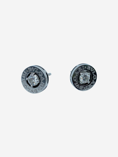 White gold & diamond stud earrings