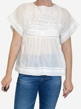 Load image into Gallery viewer, White cotton blouse - XS