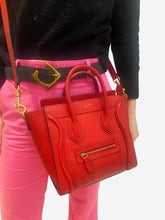 Load image into Gallery viewer, Red Nano Luggage mini crossbody tote bag