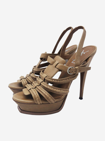 Beige Tribute platform strappy sandals - size EU 40.5