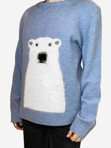 Blue penguin sweater - size XL