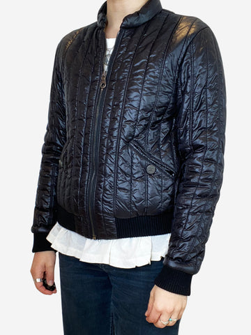 Black lightweight quilted bomber jacket - size FR 36