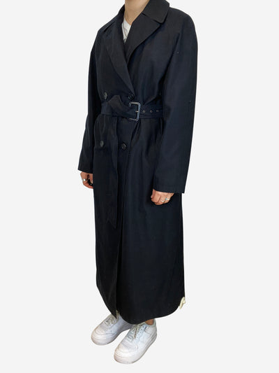 Black oversized belted trench coat - size US 4