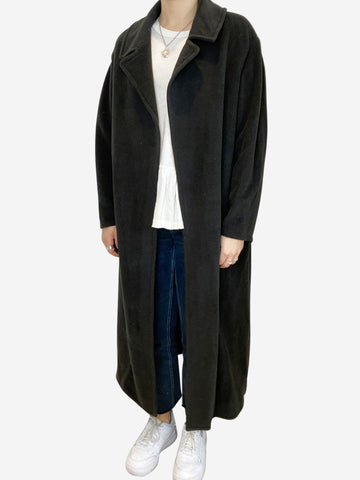 Black oversized open coat - size M