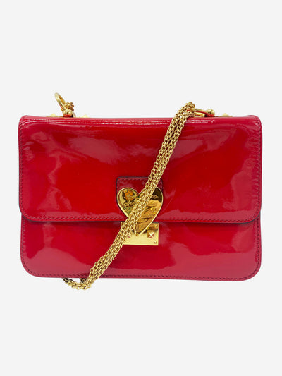 L'Amour patent red leather shoulder bag