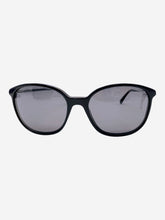 Load image into Gallery viewer, 5291B black sunglasses with Swarovski crystal arms
