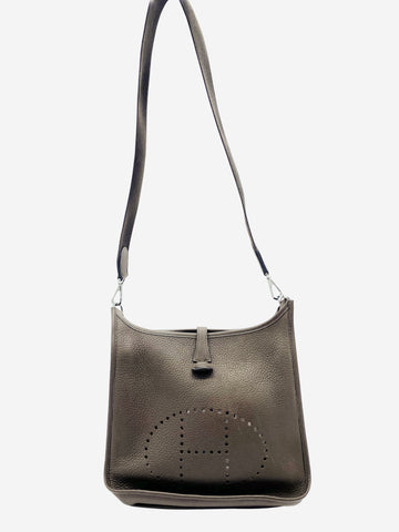 Evelyn brown leather crossbody bag