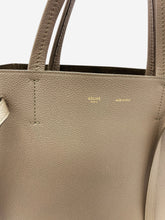 Load image into Gallery viewer, Taupe Small Cabas Phantom grained calfskin tote bag