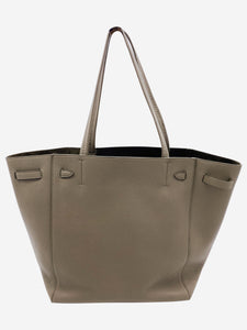 Taupe Small Cabas Phantom grained calfskin tote bag