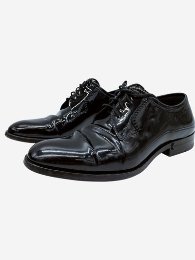 Black patent leather oxford shoes- size EU 37.5
