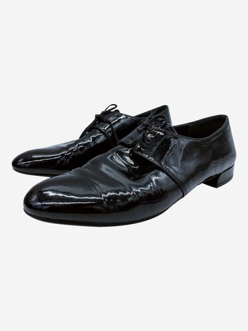 Black patent leather oxford pumps- size EU 39 (UK 6)