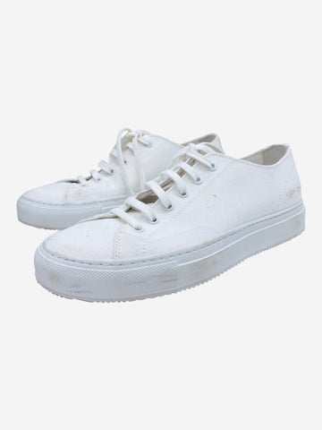 White canvas tennis trainers- size EU 37 (UK 4)