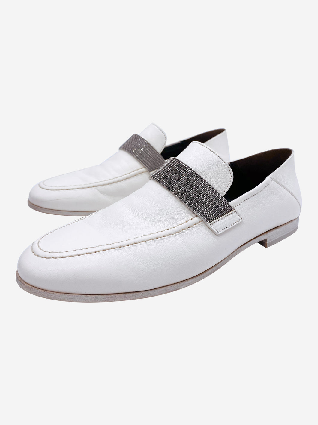 White Brunello Cucinelli Shoes, 5