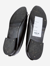 Load image into Gallery viewer, Black leather ballet flats with toe cap logo- size EU 37.5 (UK 4.5)