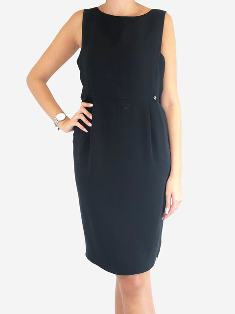 Chanel Black Knee Length Dress Size 14 Chanel - Timpanys