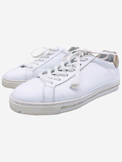 White leather trainers - size EU 39